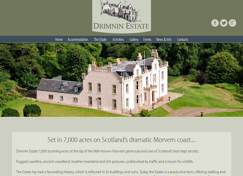 Drimnin Estate Website